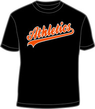 Athletics Black T-Shirt W/ Athletics Logo