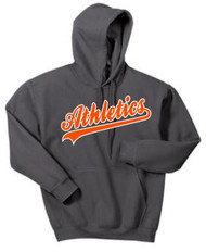 Athletics Charcoal Hooded Sweatshirt W/ Logo