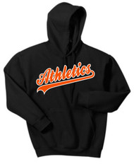 Athletics Black Hooded Sweatshirt W/ Logo