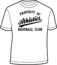 Athletics White Adult Property of Drifit Shirt