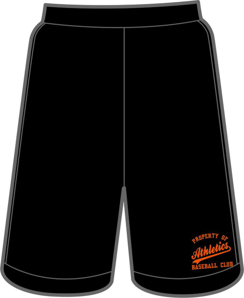Athletics Adult Black Pocketed Performance Short With Logo