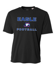 "ADULT ""EAGLE FOOTBALL"" PERFORMANCE LOOSE-FIT T-SHIRT"