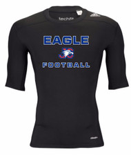 "ADIDAS ADULT ""EAGLE FOOTBALL"" PERFORMANCE TIGHT-FIT T-SHIRT"