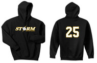 STORM BLACK HOODED SWEATSHIRT WITH LOGO & NUMBER