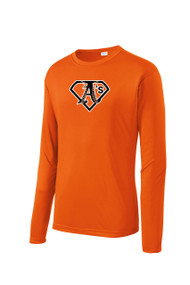 ATHLETICS WINTER LONG SLEEVE SPORT TEK DRY FIT SHIRT WITH LOGO