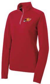 RED 1/4 PULLOVER WITH LOGO 2