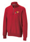 RED 1/4 ZIP FLEECE WITH LOGO 2