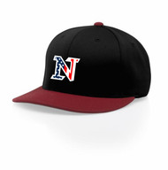 BLACK WITH RED VISOR