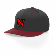 Charcoal with Red Brim