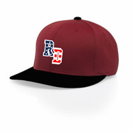 RED WITH BLACK BRIM
