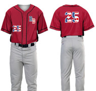 NEVADA ROAD DAWGS RED/BLACK SUBLIMATED JERSEY WITH FLAG FILLS