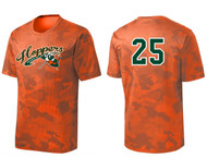 HOPPERS BASEBALL SPORT-TEK DRYFIT ORANGE CAMO SHIRT WITH LOGO