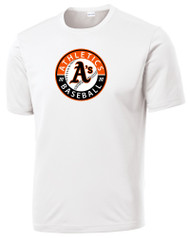 ATHLETICS SHORT SLEEVE SPORT TEK DRY FIT SHIRT WITH CIRCLE LOGO