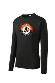 ATHLETICS LONG SLEEVE SPORT TEK DRY FIT SHIRT WITH CIRCLE LOGO
