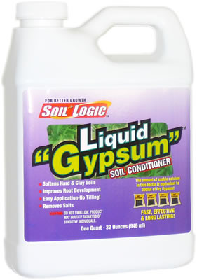 "Soil Logic Liquid ""Gypsum"" - 32 ounce (quart) bottle"