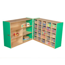 WD23631G Green Apple™ Tray & Shelf Fold Storage with (25) Translucent Trays
