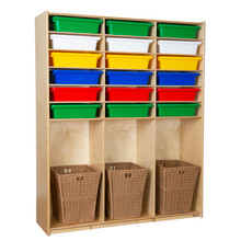 WD990343AT Cubby Locker with Assorted Trays