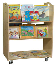 C990648F Mobile Library Cart - Fully Assembled