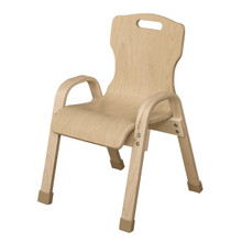 "WD91201 Stackable Bentwood Kids Chair, 12"" Height"