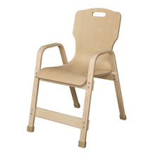 "WD91601 Stackable Bentwood Kids Chair, 16"" Height"