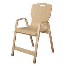 "WD91801 Stackable Bentwood Kids Chair, 18"" Height"