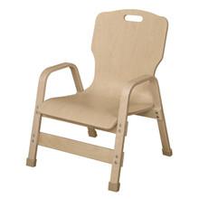 "WD91801-12H Stackable Bentwood Teacher's Chair, 18"" Heigh"
