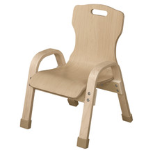 "WD90801 Stackable Bentwood Kids Chair, 8"" Height"