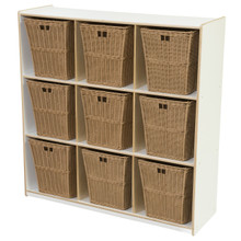 WD50900WHT-720 (9) White Cubby Storage with Large Baskets