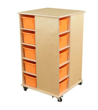 WD61409OR Cubby Spinner with Orange Trays