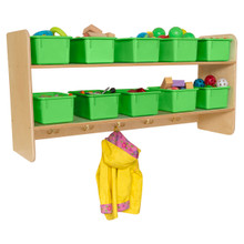 WD51409LG Wall Hanging Storage with (10) Lime Green Trays