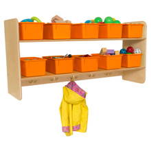 WD51409OR Wall Hanging Storage with (10) Orange Trays