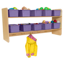 WD51409PP Wall Hanging Storage with (10) Purple Trays