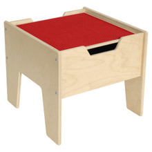 2-N-1 Activity Table with Red LEGO™ Compatible Top - Fully Assembled