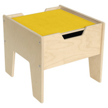2-N-1 Activity Table with Yellow LEGO™ Compatible Top - Fully Assembled