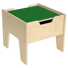 2-N-1 Activity Table with Green LEGO™ Compatible Top - Fully Assembled