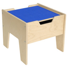 2-N-1 Activity Table with Blue LEGO™ Compatible Top - Fully Assembled