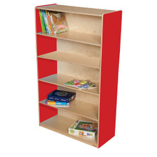 "WD12960R Stawberry Red™ Bookshelf, 60""H"
