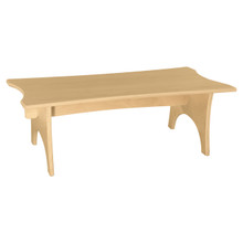 "WD991159-30W10H Scalloped Straight Bench 30""W x 10""H"
