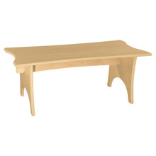 "WD991159-30W12H Scalloped Straight Bench 30""W x 12""H"