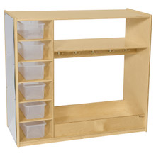Dress-Up Storage Unit With Translucent Trays
