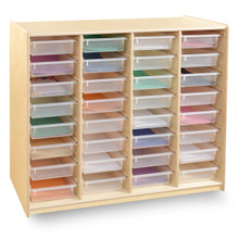 32-Glide Tray Storage Mobile Unit with (32) Translucent Trays, RTA