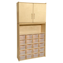 Contender 20 Tray Cubby Storage Locker and Cabinet with Translucent Bins- RTA