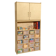 Contender 20 Tray Cubby Storage Locker and Cabinet with Translucent Bins- Assembled