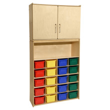 Contender 20 Tray Cubby Storage Locker and Cabinet with Assorted Bins- RTA