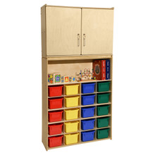 Contender 20 Tray Cubby Storage Locker and Cabinet with Assorted Bins- Assembled