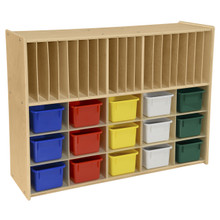 Contender 15 Assorted Bin Cubby Storage with Paper Slots- RTA
