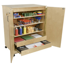 Contender Mobile Storage Cabinet with Enclosed Drawers - Assembled