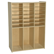 Contender 18 Tray Storage with Cubbies- - Assembled