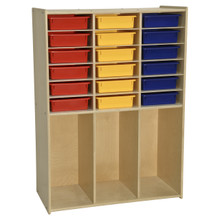 Contender 18 Bin Cabinet with Assorted Color Bins - RTA
