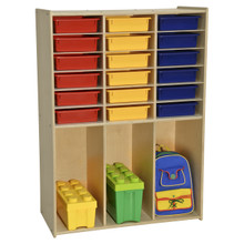 Contender 18 Bin Cabinet with Assorted Color Bins  - Assembled